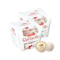 费列罗 Raffaello 拉斐尔巧克力 椰蓉扁桃仁糖果酥球15粒装 2盒组合 300克