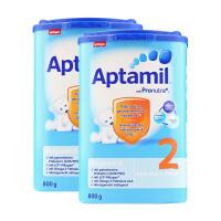 保税区直发 德国Aptamil爱他美婴幼儿配方奶粉2段(6-10个月 800g)两罐装