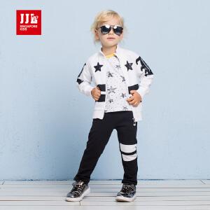 季季乐男童纯棉两件套2017新款时尚休闲运动儿童春款中小童套装BCZ53097