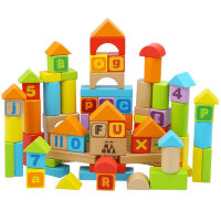 木质积木益智 宝宝婴儿幼儿童玩具 1-2周岁3-6岁半 男女孩 生日礼物