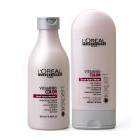 L'OREAL/欧莱雅 染发后护色洗发水250ml+护发素150ml 专业洗护套装 染后护色 修护受损