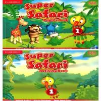 剑桥 3-6岁幼儿英语 Super Safari Level 1 Pupil's Book with DVD-ROM+Activity Book 学生套装