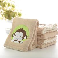 萌味 抱枕 珊瑚绒小毛毯空调毯盖毯双层冬季单人加厚儿童小毯子午睡毯办公室儿童用品