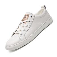 潮牌鞋子男潮鞋配牛仔裤的鞋子休闲男鞋男土休闲鞋白鞋潮流小白鞋 38 标准皮鞋码