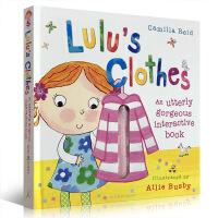 英文原版绘本 Lulu's Clothes 我爱露露系列 露露的衣服幼儿启蒙生活习惯图画书 精装触摸操作玩具书 常识养