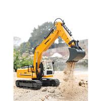遥控挖掘机玩具工程车挖土机模型合金仿真男孩儿童小孩电动大号