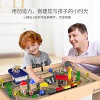 火车轨道积木木质电动车头套装3-6周岁儿童玩具男孩场景