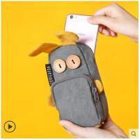 大容量可��W生文具盒�P袋�n����意搞怪兔兔女生�U�P袋