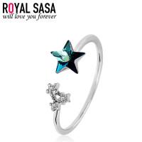 皇家莎莎戒指女韩版仿水晶星星个性潮人学生指环配饰品送女友生日礼物