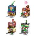 【迷你街景 兼容乐高】森宝 迷你街景城市系列拼装积木玩具