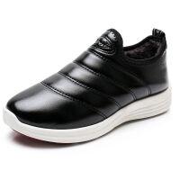 冬季老北京布鞋女鞋加绒防滑保暖棉鞋女老年人棉靴皮面防水妈妈鞋