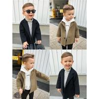 宝宝冬装儿童毛呢外套男童全手工缝制双面呢子大衣