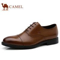 camel 骆驼男鞋 秋季新品商务正装鞋低帮真皮系带男士皮鞋子
