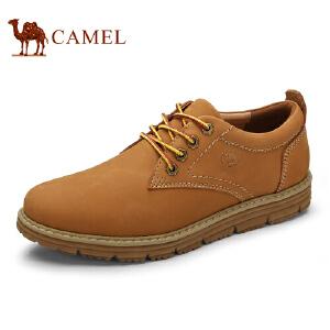 骆驼牌 男鞋 新品男款系带休闲伐木鞋复古时尚低帮男鞋