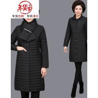 妈妈棉袄女冬装加厚外套中老年羽绒中年棉衣中长款大码40岁50