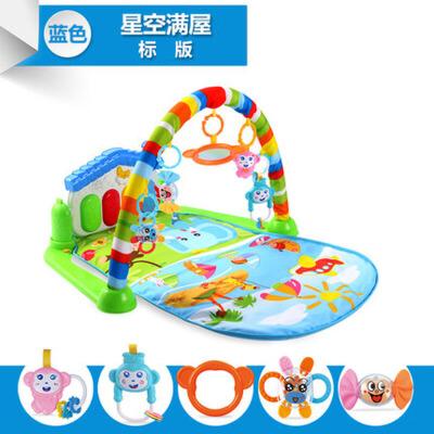 婴幼儿童宝宝脚踏钢琴健身架器游戏毯带音乐玩具0-1岁3
