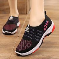 老北京布鞋女鞋春秋季一脚蹬休闲女士布鞋软底防滑中老年妈妈布鞋 黑色 单鞋