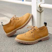 新款马丁靴男短靴低帮韩版潮流英伦工装靴男