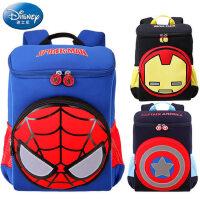 迪士尼儿童双肩包幼儿园男孩美国队长2-6岁宝宝书包蜘蛛侠背包