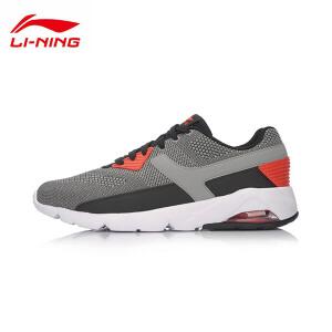 李宁休闲鞋男鞋运动生活系列气垫减震耐磨防滑轻便半掌气垫运动鞋AGLM071