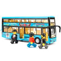 儿童公共汽车模型玩具车 双层公交车玩具合金男孩巴士大巴车回力车