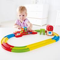 Hape儿童模型玩具火车轨道感知套18M+