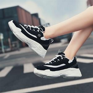 【年终特惠】Q-AND/奇安达2018秋冬新款女士轻便缓震透气增高百搭潮流休闲跑步鞋