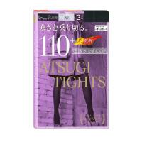 【当当海外购】保税区直发 日本ATSUGI厚木 110D天鹅绒发热连裤袜丝袜L-LL 2双装