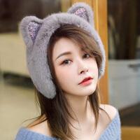 耳罩冬天保暖仿皮毛一体女可爱猫耳耳套毛毛护耳耳包耳捂耳暖