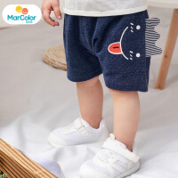 【1件3折】马卡乐童装22夏新款儿童宝宝纯棉舒适可爱立体小耳朵男童短裤