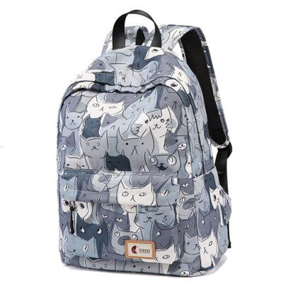 帆布女包学院风校园背包大中学生书包双肩包