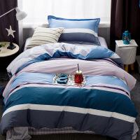 御目 四件套 儿童卡通活性四件套1.2/1.5M学生宿舍床单被套四件套简约件套床上用品