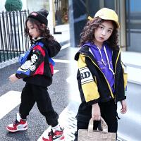 女童秋装外套中大童时尚短款风衣儿童洋气夹克上衣潮