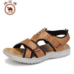 骆驼牌男鞋 夏季新品牛皮男士日常休闲凉鞋 男鞋沙滩鞋子