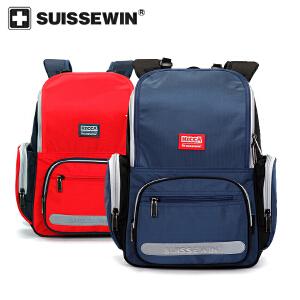 【SUISSEWIN旗舰店 支持礼品卡支付】小学生专用书包1-6年级儿童多功能背包减压双肩包