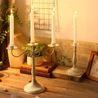 欧式创意餐厅香薰蜡烛台摆件家居浪漫烛光晚餐桌面装饰品道具婚庆
