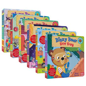 Bizzy Bear 小熊很忙系列 儿童绘本童谣机关书 Bizzy Bear 英文原版绘本 纸板操作书 英语启蒙认知 儿童英文原版进口图书