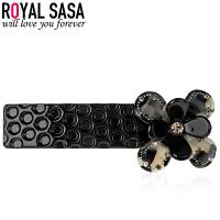 皇家莎莎发夹日韩版时尚豹纹花朵女士横夹发卡盘头发饰品 HFS610017