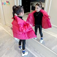 女童棉衣儿童洋气加绒冬装外套