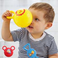 费雪皮球摇铃球婴幼儿玩具宝宝手抓发声球铃铛小皮球幼儿手摇铃球