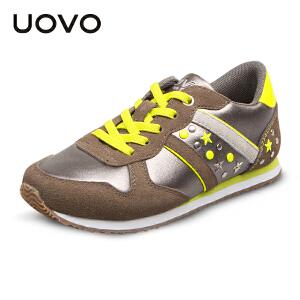 UOVO2017春秋季童鞋男童鞋女童鞋小大童儿童运动鞋透气轻便儿童休闲鞋 巴西利亚