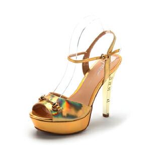 【3折到手价104.7元】星期六ST&SAT春夏牛皮时尚休闲凉鞋女SS42110016