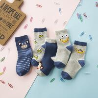 【满99减50】春夏季新款韩国可爱卡通儿童袜春袜子纯棉中筒学生袜透气棉袜