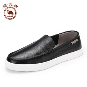 骆驼牌 夏季新品男士 日常休闲时尚板鞋低帮套脚潮透气