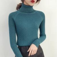 高领毛衣女士内搭打底衫秋冬新款2018套头修身紧身长袖针织衫加厚