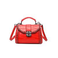 女包手提包2018新款韩版火简约百搭单肩斜挎包迷你小包包潮 红色 少量现货