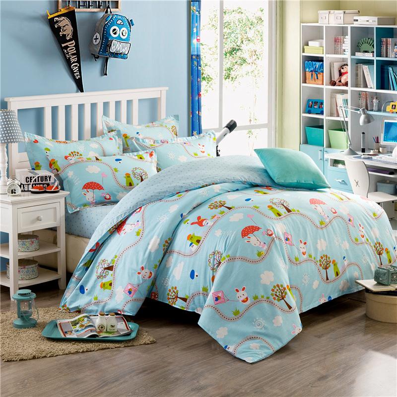 纯棉四件套全棉三件套床上1.5m2.0米被套1.8m单双人套件