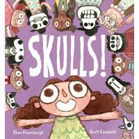 英文原版 骷髅!Scott Campbell插画 趣味认知头骨 精装绘本 Skulls!
