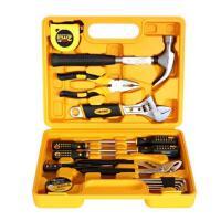 得力3701五金工具箱 多用途组合五金工具套装 家用维修工具箱16件
