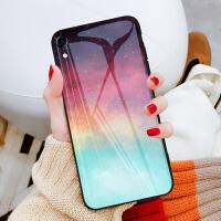 苹果xr手机壳玻璃iPhonexr手机壳女款网红iPhone xr保护壳男xr后外壳新款